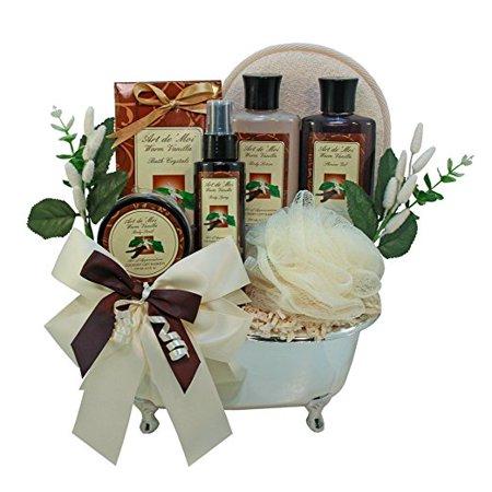 Gift Baskets Canada Spa - Vanilla Indulgence Spa Bath and Body Gift Basket Set