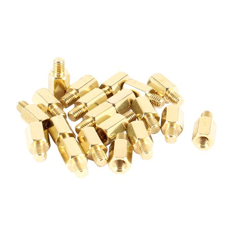 Unique Bargains 20 Pcs PCB Motherboard Standoff Hex Spacer Screw Nut M3 Male 4mm to Female 7mm