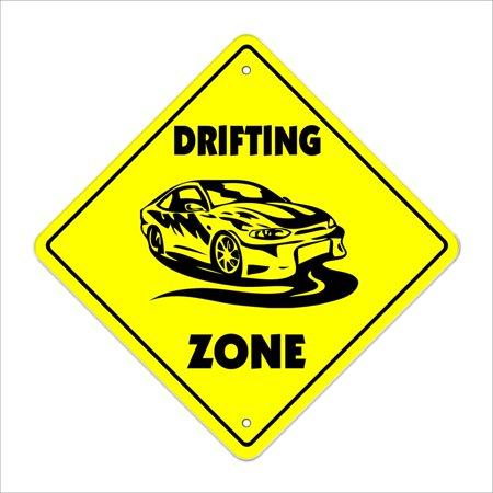 Drifting Crossing Sign Zone Xing | Indoor/Outdoor | 14