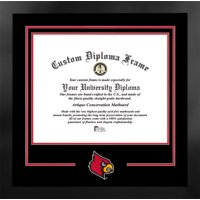 University of Louisville Cardinals 17w x 14h Spirit Diploma Nova Black Frame with Bonus Campus Images Lithograph (value savings $59)