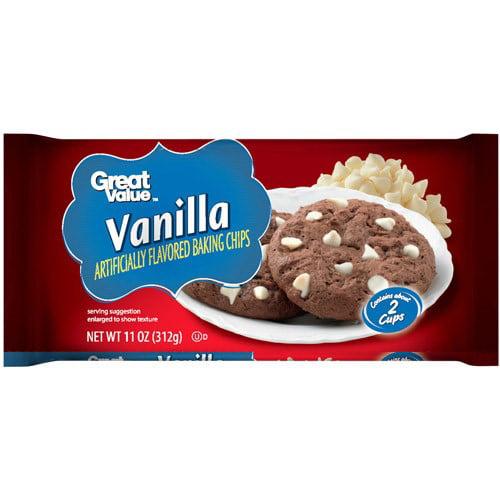Great Value Baking Chips, Vanilla, 11 oz