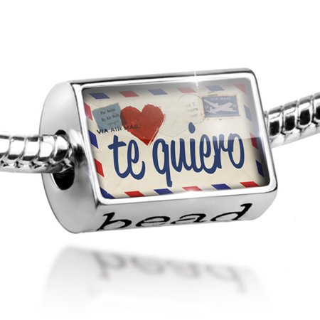 Bead I Love You Spanish Love Letter from Spain Charm Fits All European Bracelets - Love Beads