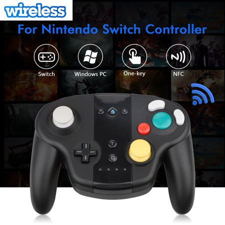 EEEkit Wireless Controller for Nintendo Switch with Double-Shock Function, Compatible with PC/PS3, GameCube Style, Motion Controls(Black)