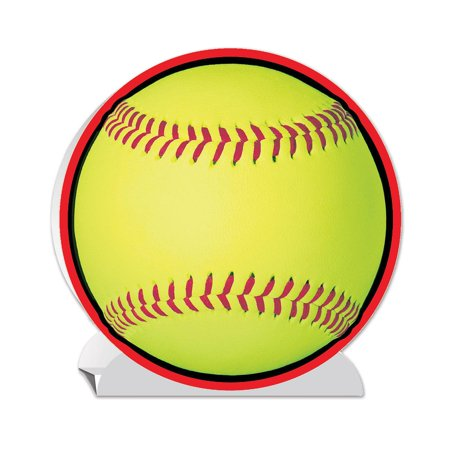 Pack of 12 Softball Sports 3-D Party Table Centerpieces 10