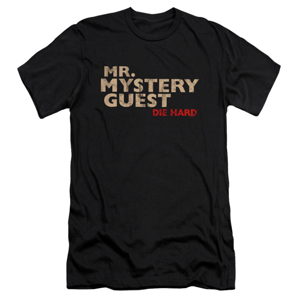 Die Hard Men's  Mystery Guest Slim Fit T-shirt Black