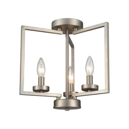 West End 2-Light Semi Flush in Brushed -