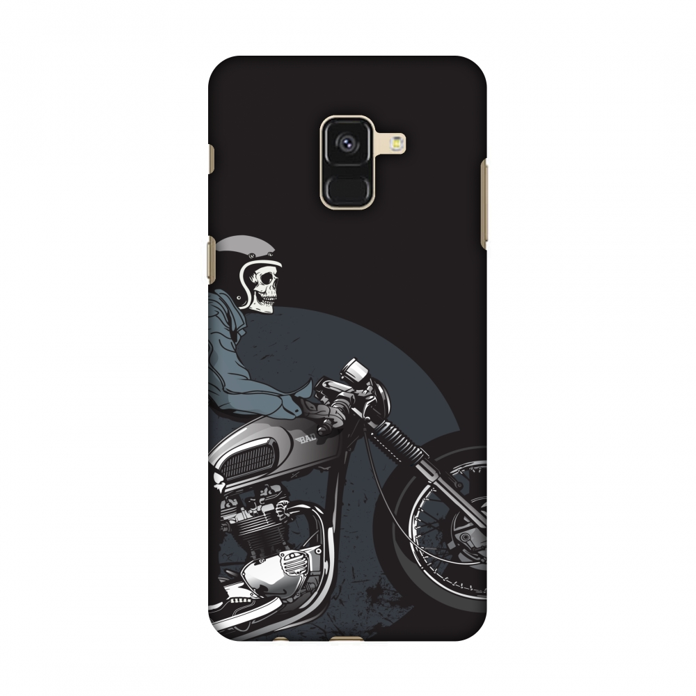Samsung Galaxy A8 2018 Case - Love for Motorcycles 2, Hard Plastic Back Cover, Slim Profile Cute Printed Designer Snap on Case with Screen Cleaning Kit