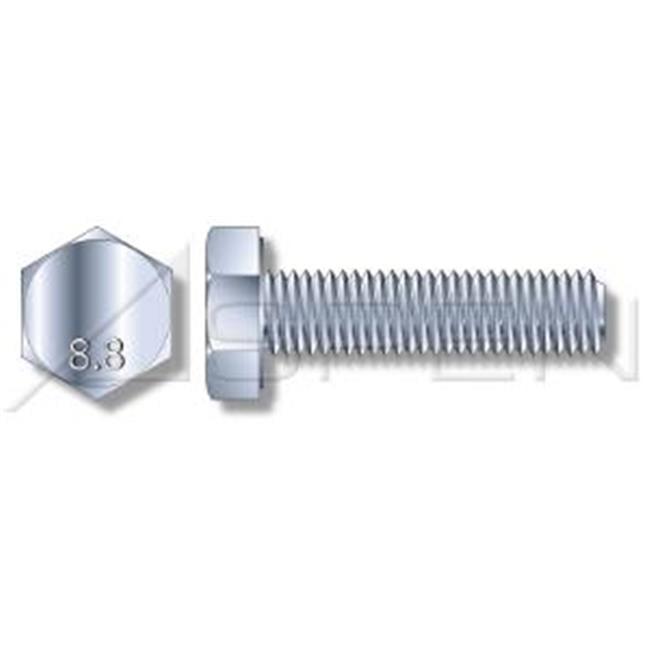Aspen Fasteners AMME001-6X12-009000 M6 x 12 mm DIN 933 Full Threaded Hex Head Cap Screws & Metric Bolts, Class 8.8 Steel - Zinc Plated - 9000 Piece