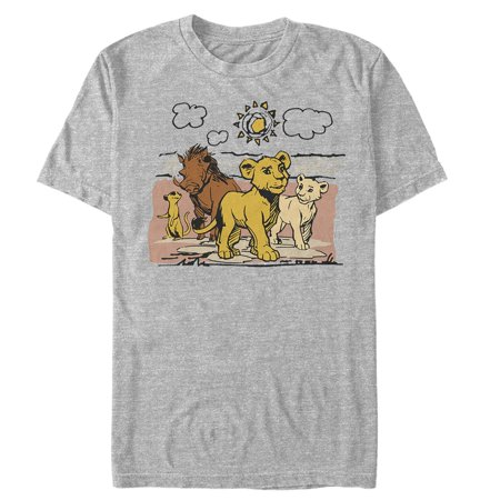 Lion King Men's Best Friends Cartoon T-Shirt