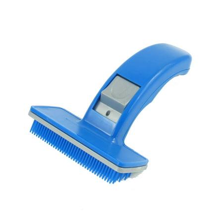 Blue Plastic Pet Dog Puppies Hair Shedding Grooming Brush Comb - image 1 de 1