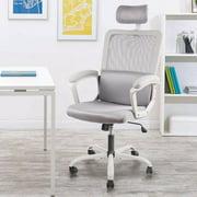Ergonomic Office Chair,Adjustable Headrest Mesh Office Chair