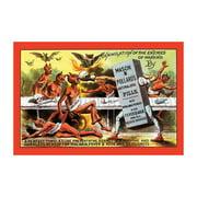 Mason & Pollard's Anti-Malaria Pills Print (Unframed Paper Print 20x30)