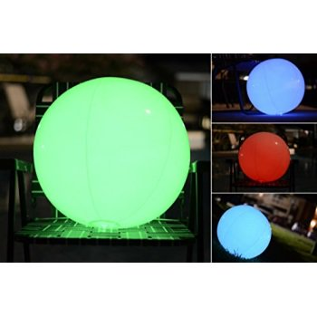 Light up Beach Ball [Large] | Glow in the dark with Color Changing LED Lights | Great for Parties, Pool, Barbecues, or - Light Up In The Dark