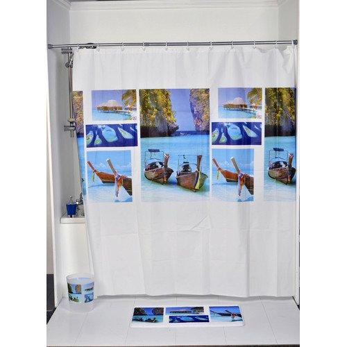Evideco Paradise Printed Single Shower Curtain Walmart Com Walmart Com