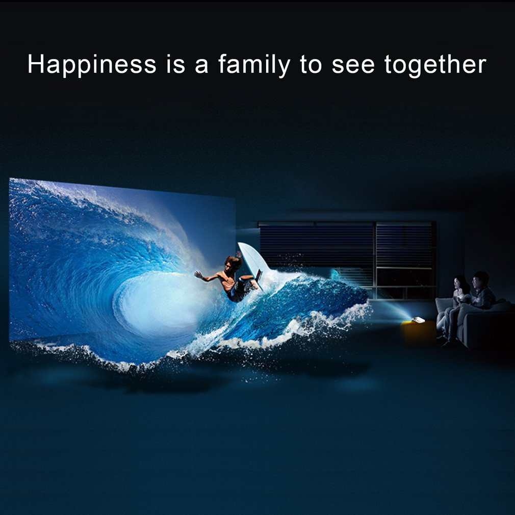 LESHP Portable Multi-media LED Video Projector 1080P HD 1200 LM with Keystone for Office Home Cinema Theater TV Game 1000:1