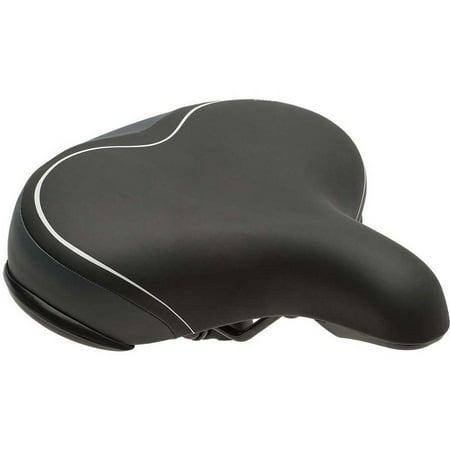 Bell Sports Comfort Wide Cruiser Padded Bike Seat / Saddle, Black