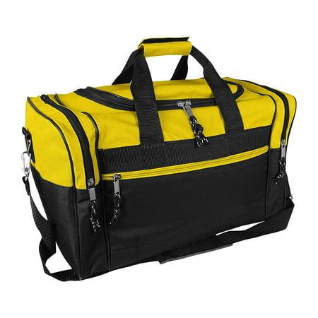 Blank Duffle Bag Duffel Bag in Black and Gold Gym Bag By DALIX - Walmart.com eecd202846