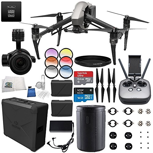 DJI Inspire 2 Premium Combo with Zenmuse X5S and CinemaDNG and Apple ProRes L...