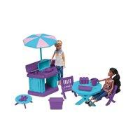 American Plastic Toys 12-Piece Fashion Doll Patio Grill Set
