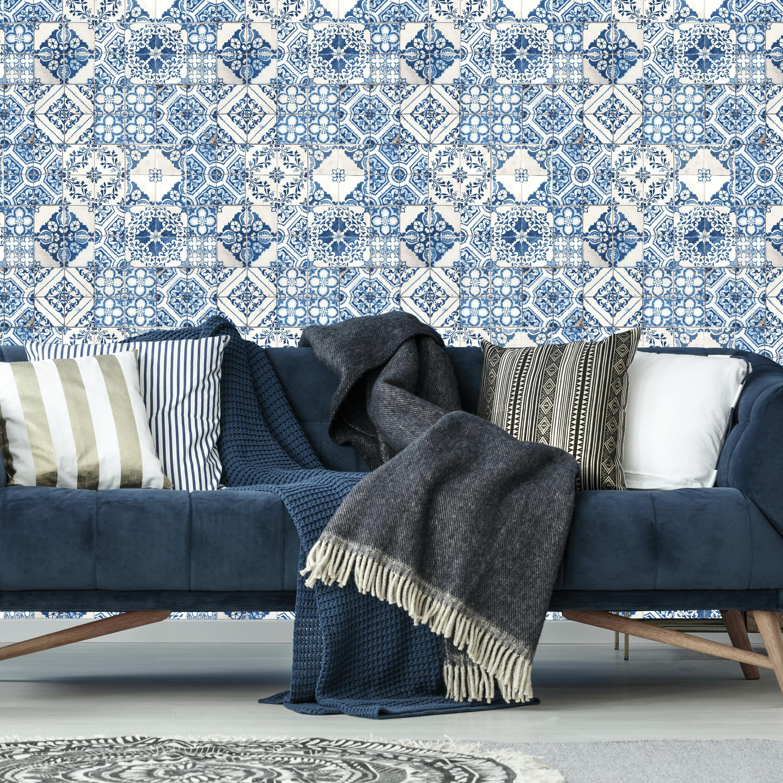 RoomMates Mediterranian Tile Peel & Stick Wallpaper