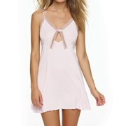 Felina 850038 Inviting Micro Modal Chemise with Lace Trim
