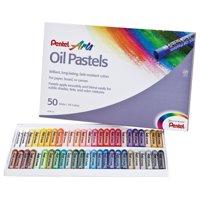 Pentel Arts Oil Pastels - 50 Color Set