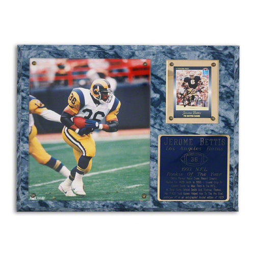 NFL - Jerome Bettis Los Angeles Rams 1993 NFL Rookie of the Year Plaque - LE of 1429