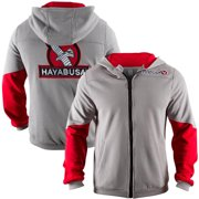 Wingback Classic Fit Zip-Up Hoodie - Medium - Gray/Red