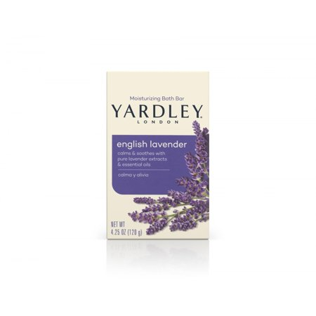 Yardley London Naturally Moisturizing Bath Bar, English Lavender, 4.25 Oz - Aromatherapy Moisturizing Bar Soap