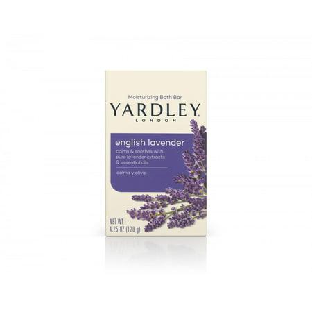 Yardley London Naturally Moisturizing Bath Bar, English Lavender, 4.25 Oz Bar