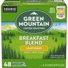 Green Mountain Coffee Roasters Breakfast Blend Single-Serve Keurig K-Cup Pods, Light Roast Coffee, 48 Count