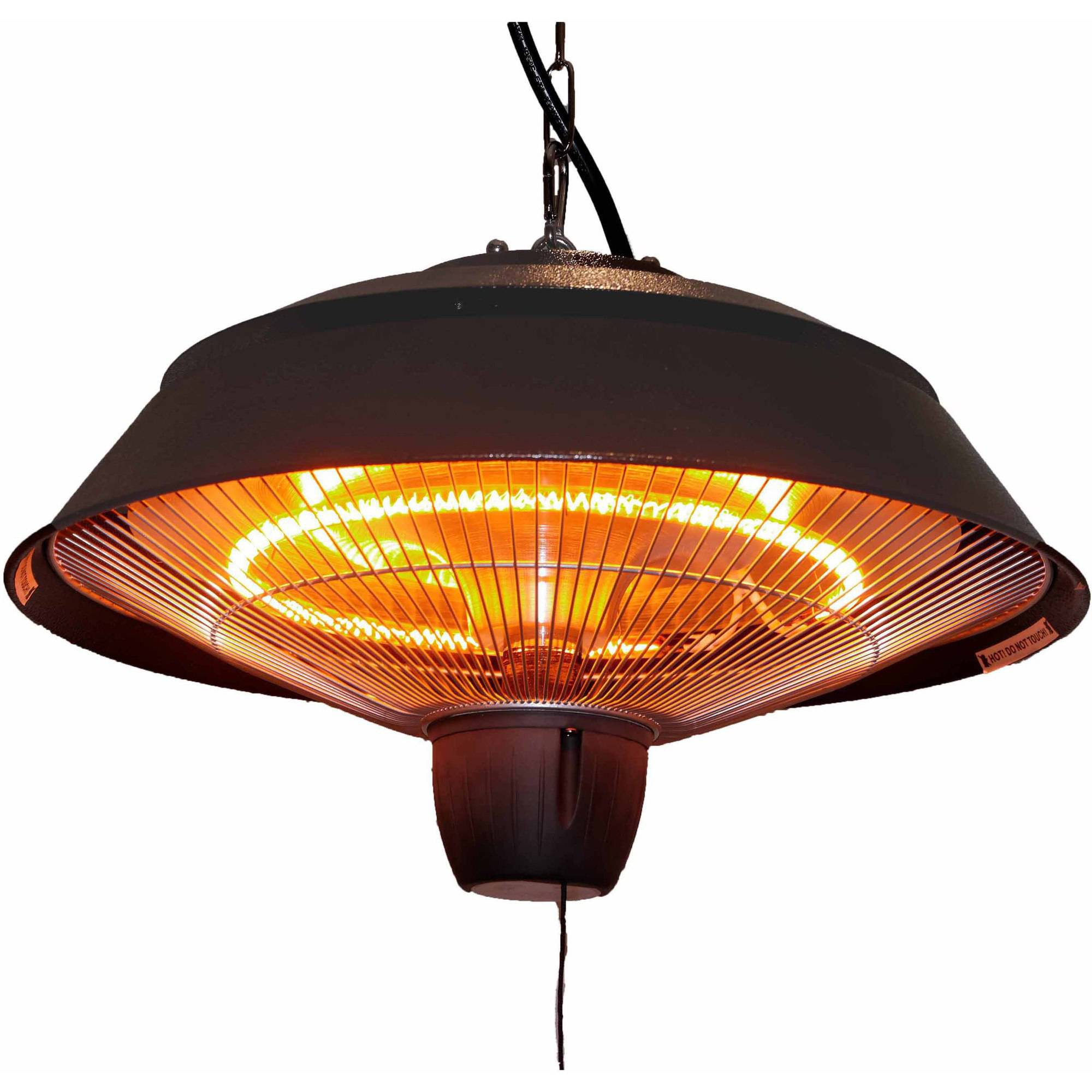 Energ 1500 Watt Hanging Electric Infrared Gazebo Heater Hammered Brown