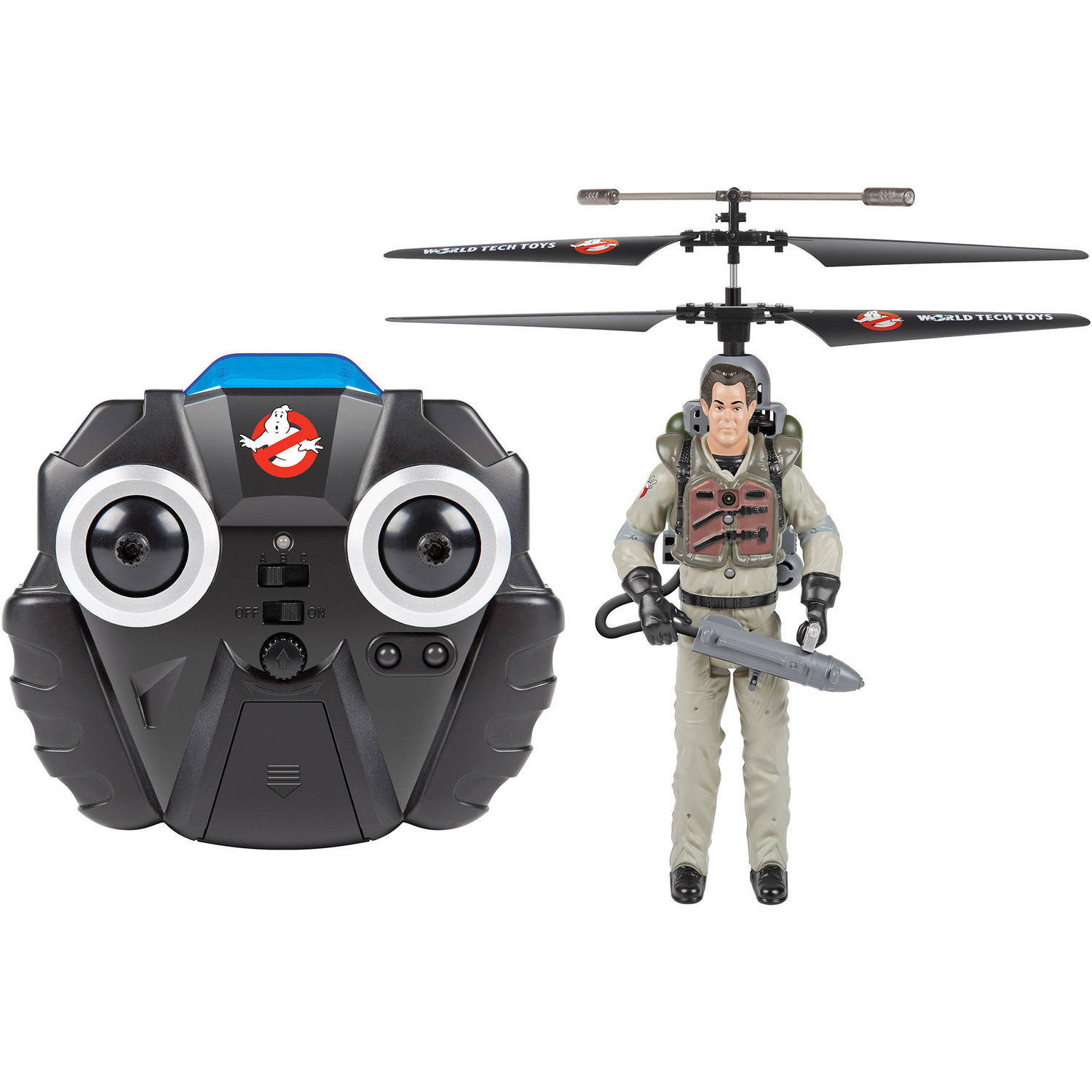 2-Channel Ray Ghostbusters IR Gyro Helicopter by World Tech Toys