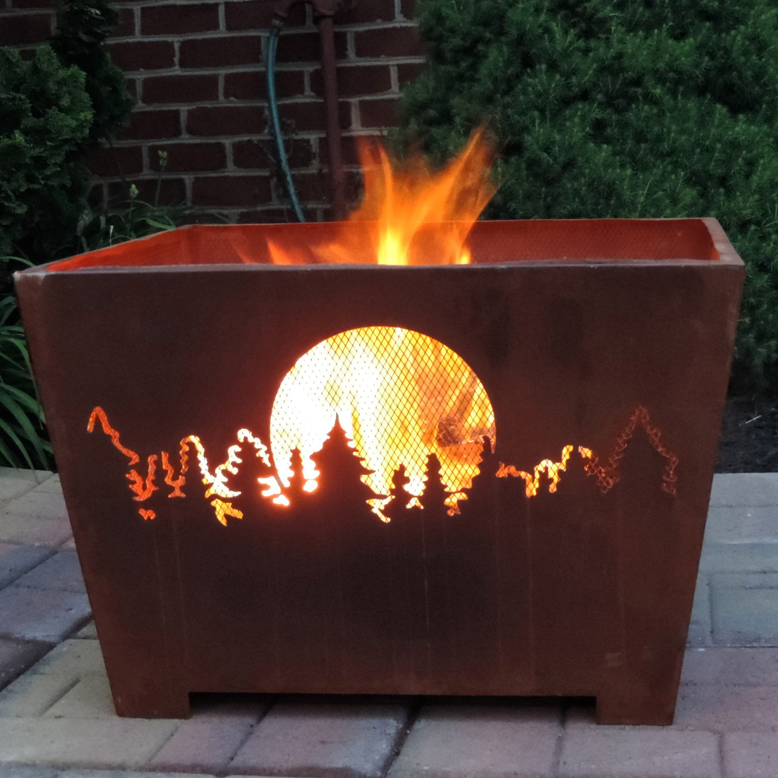 Esschert Design Forest & Moon Wood Burning Fire Pit