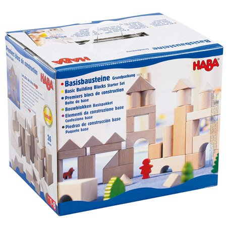 Basic Building Blocks 26 Piece Starter Set  Made In Germany   This 26 Piece Starter Set From Haba Is Suitable For Beginner To Expert Architects Ages 1    By Haba