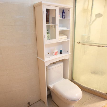 Adeco Trading 24 X 68 5 Free Standing Over The Toilet