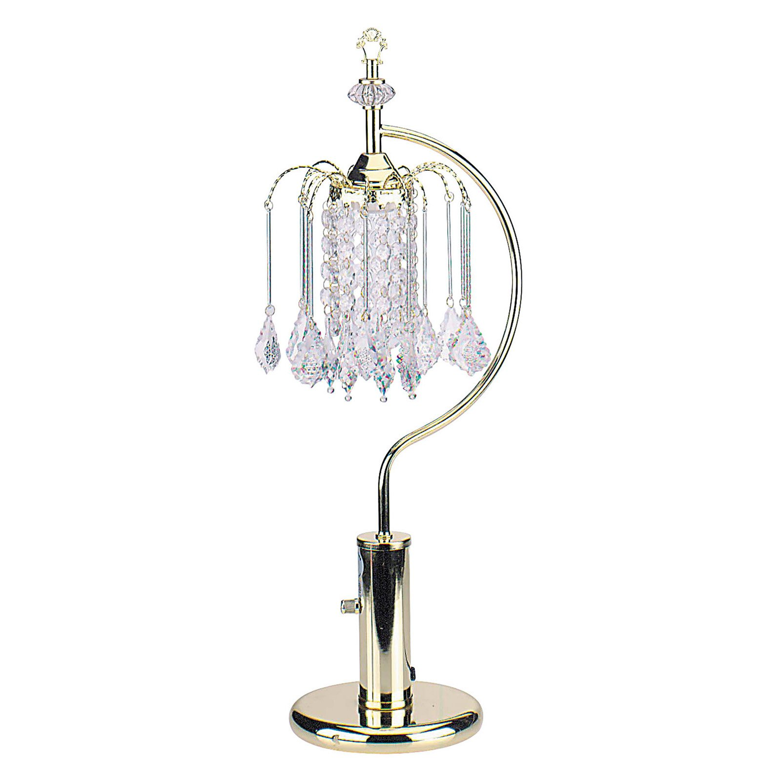 "Gold Table Lamp with Crystal Inspired Shade, 27"" by Kid Kore International"