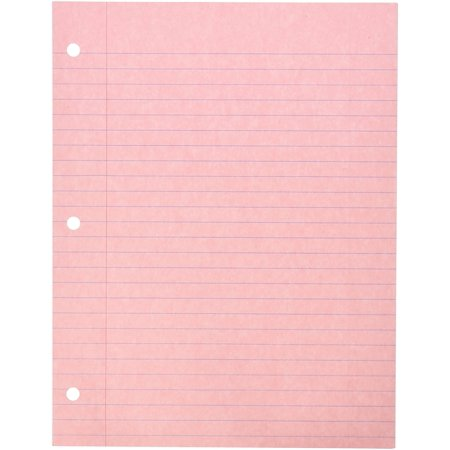 087155 3-Hole Punched Notebook Filler Paper, 8 1/2