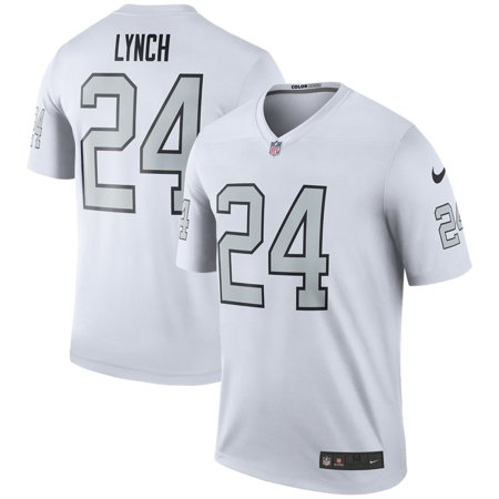 size 40 ac930 dc8af Marshawn Lynch Oakland Raiders Nike Color Rush Legend Jersey - White