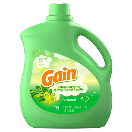 Gain Liquid Fabric Softener, Original, 129 fl oz 150