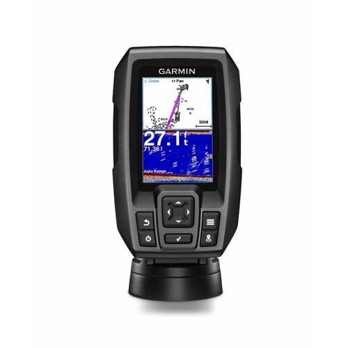 Refurbished Garmin Striker 4 CHIRP fishfinder w/ Transducer - Refurbished, CHIRP sonar technology, AutoGain technology and high-sensitivity GPS
