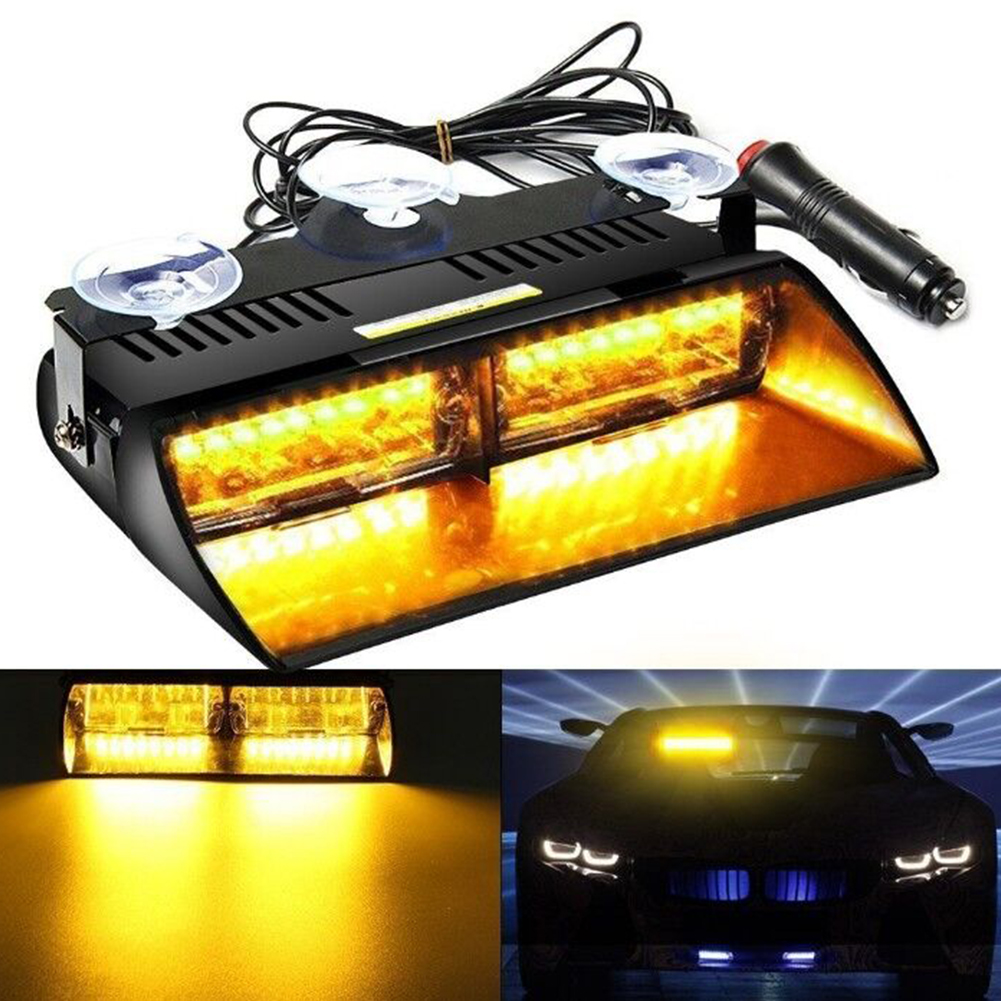 INNOVEE Car 16 LED High Intensity Bright Dash Windshield Emergency Flash Strobe Light White