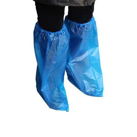 10 Pair Waterproof Knees Covers Plastic Disposable Shoe Covers (Plastic Shoe Cover)