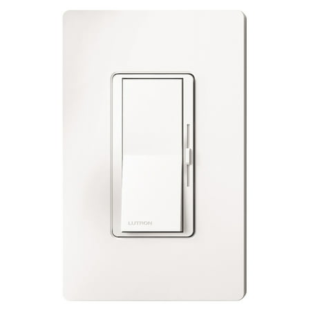 Lutron DVCL-153P-WH-3 White Diva CFL, LED, Halogen, And Incandescent Dimmer 3 Pack Diva Satin Colors Dimmers