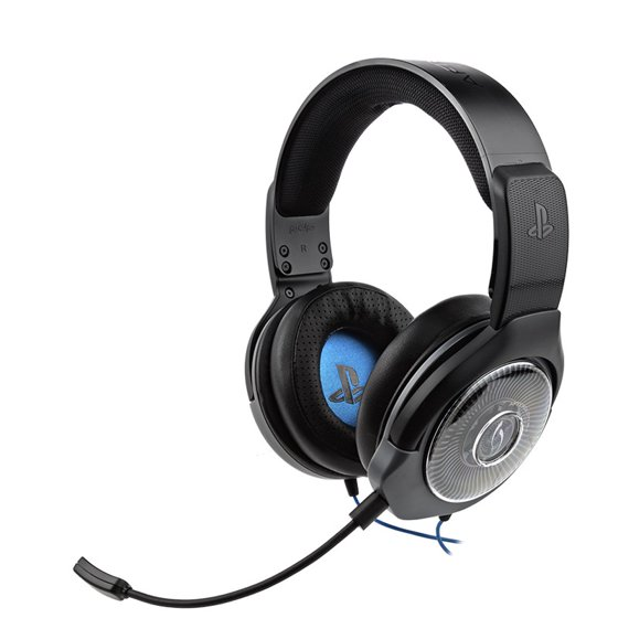 PDP PlayStation 4, Afterglow AG 6 Stereo Wired Headset, Black