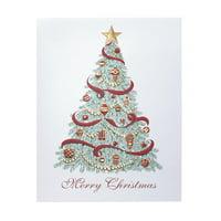 Christmas Trimmings Christmas Card Set of 18