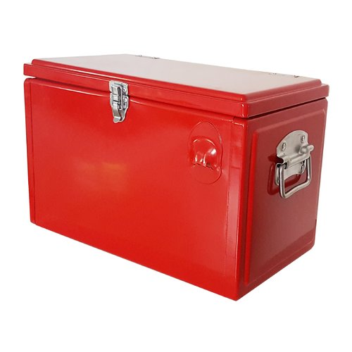 Permasteel 21 qt. Red Portable Picnic Cooler