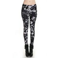 Fashion Lady Pattern Printed Hot Womens Stretch Tight Leggings Skinny Pants Crow Design