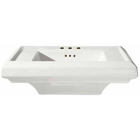American Standard 0790.004.020 24 Town Squate Pedestal Top with Three Faucet Holes (4 Centers) without Pedestal Leg, Available in Various Colors - Compton Town Center