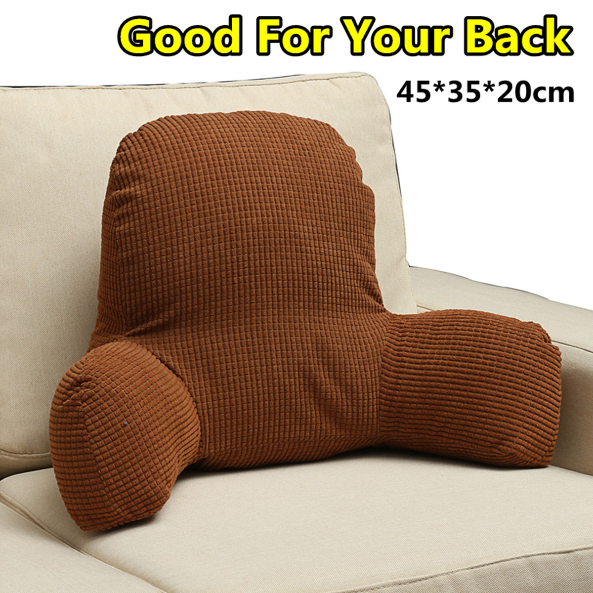 Picture of: Comfort Micro Bed Rest Reading And Bedrest Lounger Sitting Support Pillow Soft But Firmly Stuffed Pp Cotton Fill Backrest Pillow With Arms Walmart Canada